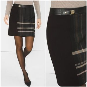 Plaid Boot Skirt, White House Black Market